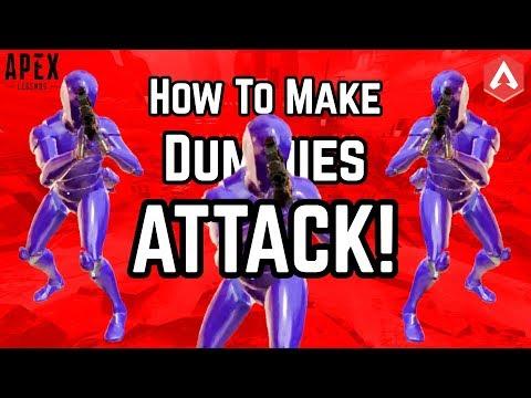 FIRING RANGE EASTER EGG SOLVED!! How To Make Dummies ATTACK In Apex Legends