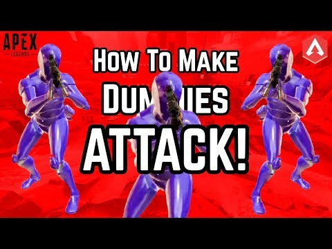 FIRING RANGE EASTER EGG SOLVED!! How To Make Dummies ATTACK In Apex Legends