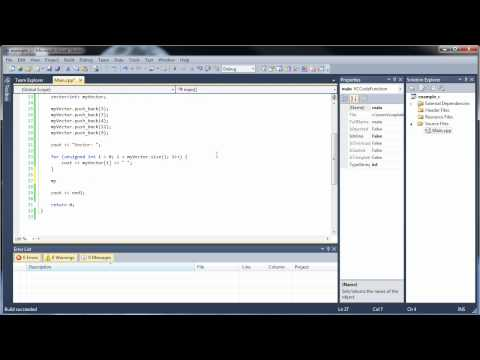 C++ Tutorial 18 – Vectors and Vector Functions