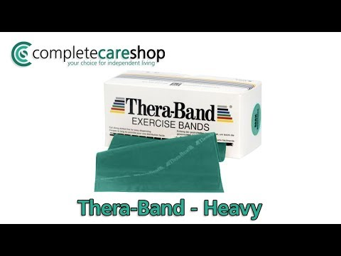 Green Thera-Band Exercise Band Demo