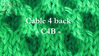 How to knit cable 4 back C4B