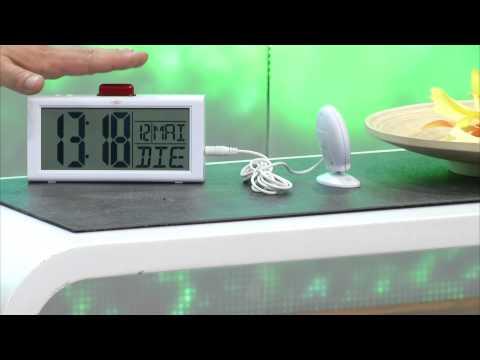 infactory Seniorenwecker mit Zusatz-Alarmen und großem LCD-Display