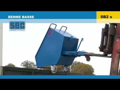 Video Youtube Benne basculante basse - Capacité 325 à 525 litres - Charge inférieure à 1200 kg