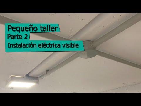 Instalación eléctrica visible - pequeño taller - parte 2