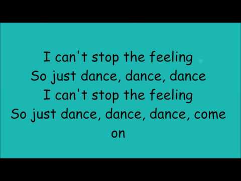 Can't Stop The Feeling - Justin Timberlake - Lyrics