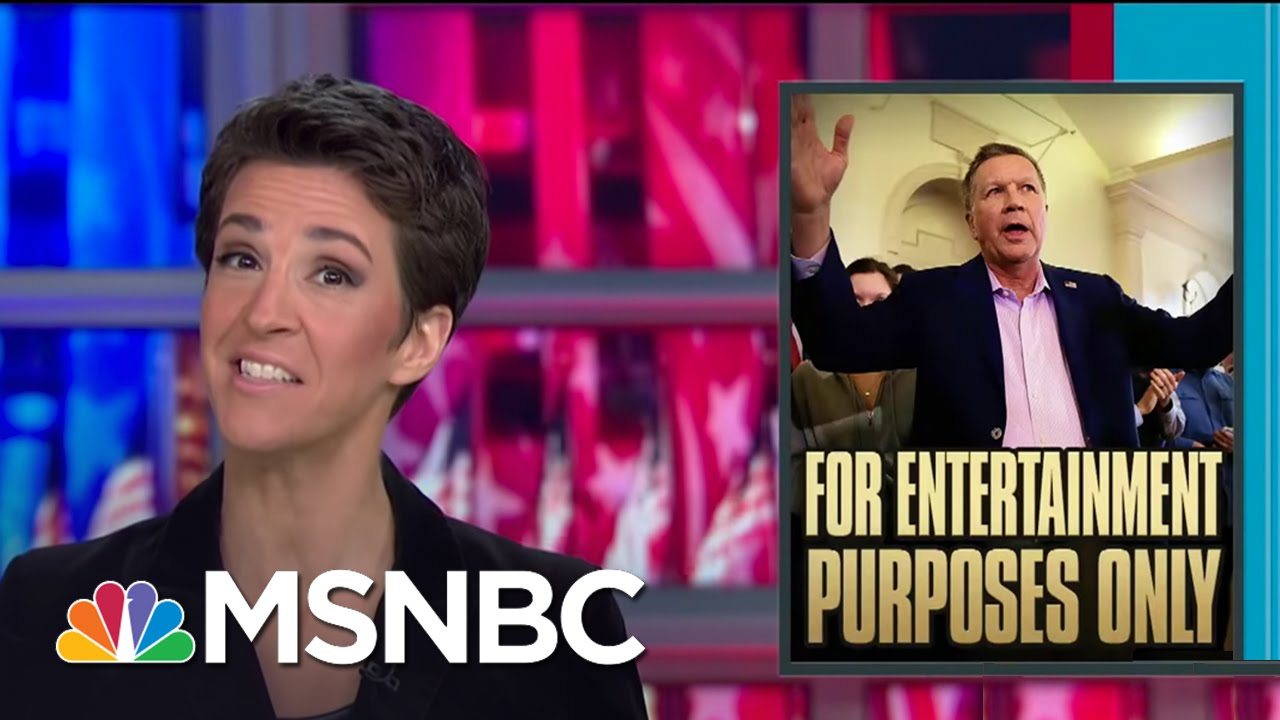 John Kasich Holds Out For Convention Opportunity | Rachel Maddow | MSNBC thumbnail