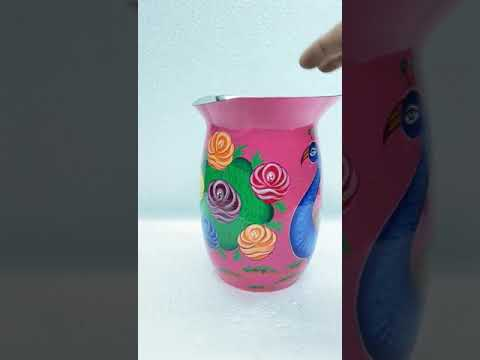 Stainless Steel Jug Hand Made Hand Painted