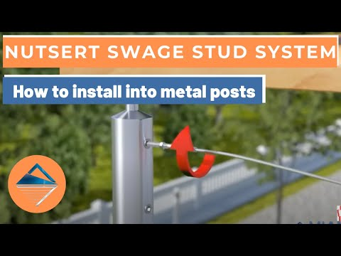 How To Install Wire Balustrade - Nutsert Swage Stud System