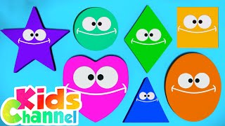 Shapes Song | Learning Videos for Children | Learn Shapes for Babies from Kids Channel