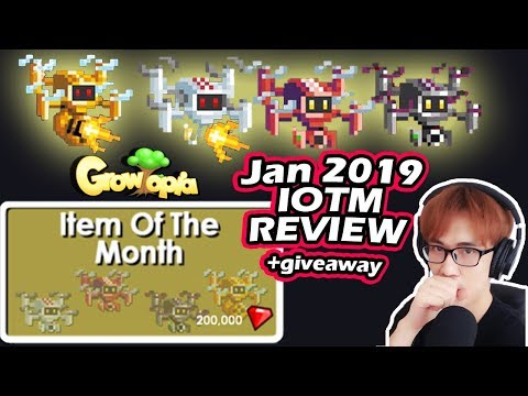 Hovernator Drone Review [All Colors + Golden] IOTM January 2019 | Growtopia