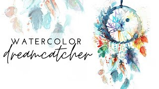 Painting a Dreamcatcher with Watercolor
