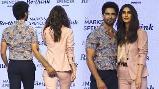 Shahid Kapoor and Vani Kapoor Ramp Walk on Marks and Spencer Spring Summer Collection 2019