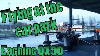 FPV flying at the car park | Eachine QX90 | DVR
