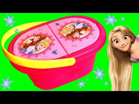 Disney Princess Picnic Basket Toy Rapunzel Belle Cinderella - Play Doh Picknick-Korb Cestino Panier Mp3