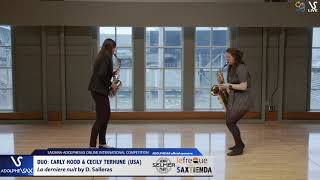 DUO Carly HOOD & Cecily TERHUNE play La derniere nuit by D. Salleras #adolphesax