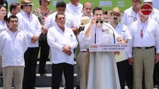 preview picture of video 'Peña Nieto - Resumen del Discurso durante encuentro con maestros en Misantla Veracruz'