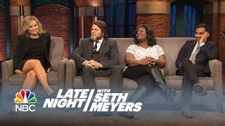 The Parks and Recreation Cast Answers Fan Questions - Late Night with Seth Meyers