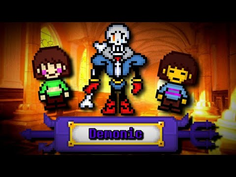 Bonetale: Sans vs Frisk | disbelief Papyrus demonic level