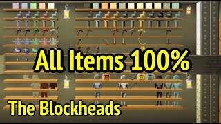 The Blockheads: All Items Showcase (100%) and Flying to Space in Ver 1.71