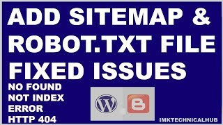 How to add Sitemap and Robot.txt file to blogger|Index|Fetch|Search Console|2018