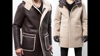 Christmas Gifts   CWMALLS® New York Men Brown Hooded Sheepskin Coat CW855575 Free Shipping