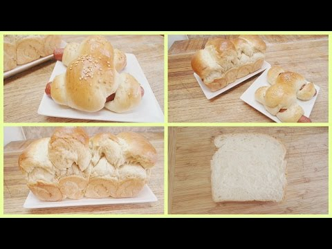 Milk Bread With Water Roux (TangZhong Starter) And Hot Dog Bread