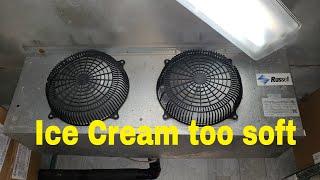 Walk in freezer temping at 20 degrees