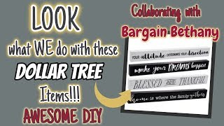 LOOK what WE do with these DOLLAR TREE ITEMS | COLLABORATING with BARGAIN BETHANY