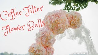 Coffee Filter Flower Balls