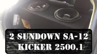 2 Sundown SA-12's on a Kicker ZX2500.1 (Mazda3 Hatchback)