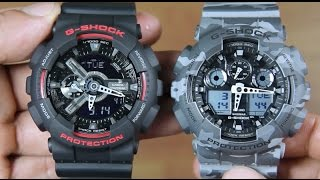 CASIO G-SHOCK GA-110HR-1A VS G-SHOCK GA-100CM-8A