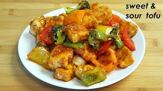 Sweet and sour Tofu recipe   Chilly Tofu  recipe   Tofu With Stir Fry vegetable   Tofu recipe