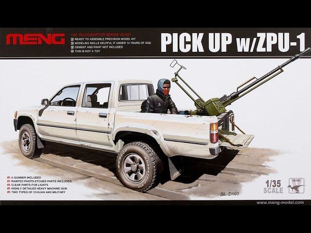 2746 2 Figures Verlinden 1//35 Mid-East HiLux Pickup Stowage /& Crew for Meng