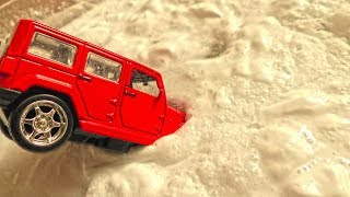 Kids Cars Fall in the Water Box || Toy Car Wash Video for Kids