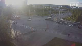 ДТП Терешковой - Ленина. Мотоцикл и мерседес. Кемерово. 10.06.2017 около 20:45