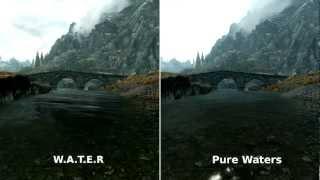 W.A.T.E.R and Pure waters : Skyrim mod comparison