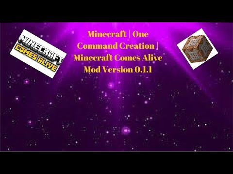 Minecraft Comes Alive Version 011 - One Command Creations
