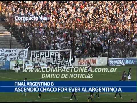 """FINAL ARGENTINO B - Ascendió Chaco For Ever (2013)"" Barra: Los Negritos • Club: Chaco For Ever"