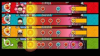 【太鼓の達人 Wii4】風雲!バチお先生(裏譜面)【全難易度同時再生】