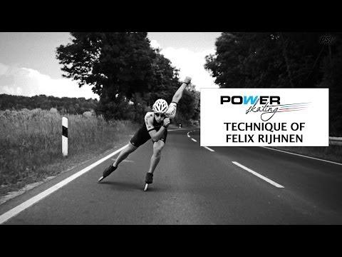 Inline Skate Double Push Technique Slowmotion of Felix Rijhnen - Powerskating 12