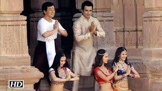 Kung Fu Yoga Shooting | Jackie Chan Dances With Farah Khan