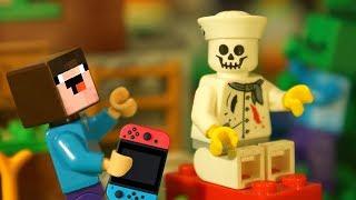 КАК ПОЯВИЛСЯ БОРЬКА ? Лего НУБик Майнкрафт Смешные Мультики - LEGO Minecraft Animation