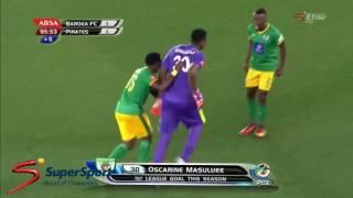 Super last minute goal by Baroka FC Goalkeeper Osacrine Masuluke vs Orlando Pirates  Out of this wor