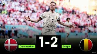 Highlights uit de match Denemarken - België: 1-2