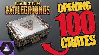 WE OPENED 100 PUBG CRATES. GUESS WHAT HAPPENED?
