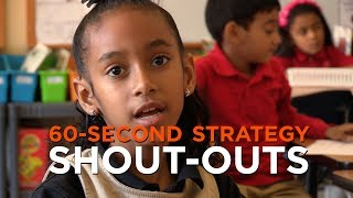 60-Second Strategy: Shout Outs