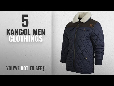 Top 10 Kangol Men Clothings [ Winter 2018 ]: KANGOL Ranger Mens Quilted Jacket with PU Shoulder