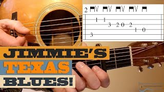 Jimmie's Texas Blues | BLUEGRASS Guitar Lesson with TAB