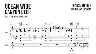 Jacob Collier ft. MARO - Ocean Wide, Canyon Deep (Transcription)