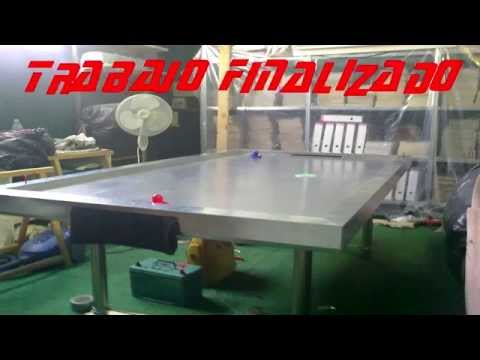 Mesa de Air hockey casera